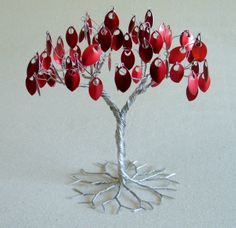 RED silver cake topper silver  red wedding decor . by KunsWerk, $40.00