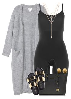 """""""Untitled #1520"""" by power-beauty ❤ liked on Polyvore featuring Monki, SPANX, Vince Camuto, Chanel, Michael Kors and Betsey Johnson"""