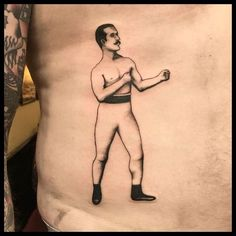 Old school boxer tattooed by Olivia Dawn. Thanks for getting this Andrew! (at Forever True Tattoo)