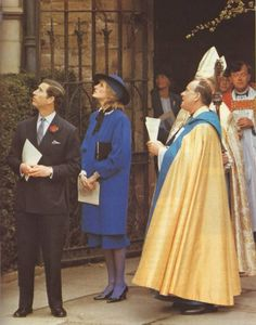 Prince and Princess of Wales at the Hereford Cathedral April 9,1985