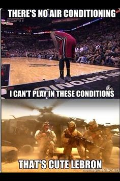 Military vs Lebron - Navy Memes - clean mandatory fun (:Tap The LINK NOW:) We provide the best essential unique equipment and gear for active duty American patriotic military branches, well strategic selected.We love tactical American gear Military Jokes, Army Humor, Military Life, Army Life, Military Veterans, Military Service, Humor Militar, Navy Memes, E Claire