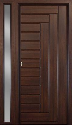 Less of main door Flush Door Design, Home Door Design, Bedroom Door Design, Door Design Interior, Wooden Front Door Design, Wooden Front Doors, Double Door Design, Wood Doors, Modern Entrance Door
