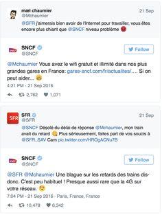 SFR vs SNCF sur Twitter