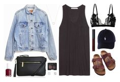 Happy camper by sophiehackett on Polyvore featuring polyvore fashion style T By Alexander Wang Levi's Birkenstock Topshop Tiffany & Co. NARS Cosmetics Essie