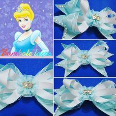 Cinderela.  #princesasdisney #lacos #lacosdasprincesas #laco #laço  #laços #meninadelaço #tiara #tiaras #laçodebebe #lacodefita #lacodecabelo.