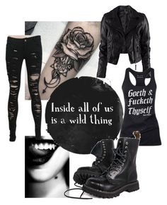 """Wild thing."" by riotofthedamned ❤ liked on Polyvore featuring H&M, women's clothing, women's fashion, women, female, woman, misses and juniors"