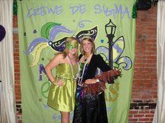 "@Sigma Sigma Sigma National Sorority AZ ""Crewe De Sigma"" for Mardi Gras social. Mascarade"