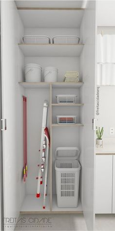 Small utility room suggestions - If your home isn't honored with a significant space to wash and fold your clothing, don't worry. Every one of these room ideas-- with built-in storage suggestions-- will certainly aid you maximize what you do have. Small Utility Room, Small Laundry Rooms, Laundry Room Storage, Interior Design Living Room, Living Room Designs, Living Room Decor, Laundry Room Design, Small Room Bedroom, Küchen Design