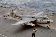 Hawker sea hawk ready for takeoff from Hr Ms Karel Doorman Military Jets, Military Aircraft, British Aircraft Carrier, Royal Dutch, Navy Coast Guard, Airplane Fighter, Aircraft Parts, Aircraft Design, Flight Deck