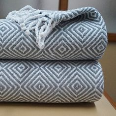 Give the gift of warmth with this set of 2 100% hand knotted fringe cotton throws.  Select from a variety of colors and don't forget to get one for yourself too!