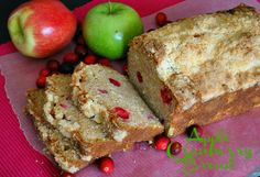 Apple cranberry bread with Streusel Topping @Suzanne   You MadeThat?