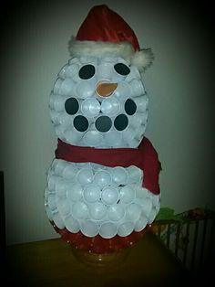 sneeuwpop Van bekers