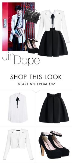 """""""Jin - Dope / BTS"""" by udkpopper ❤ liked on Polyvore featuring MANGO, Chicwish, BCBGMAXAZRIA and Balenciaga"""