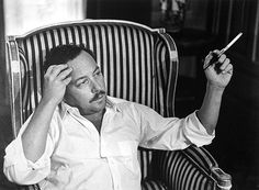 """""""There comes a time when you look into the mirror and you realize that what you see is all that you will ever be. And then you accept it. Or you kill yourself. Or you stop looking in mirrors.""""  ― Tennessee Williams. Portrait by Gisèle Freund"""