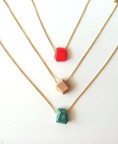 pick a color large pendant geo necklaces