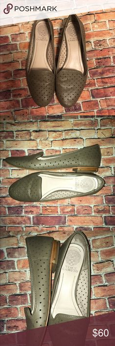 Vince Camuto Taupe Flats Pre loved but still in great condition. Vince Camuto Shoes Flats & Loafers