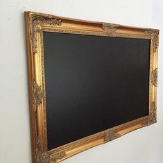Inspiration! For Dining room. Large Framed Kitchen Chalkboard Gold - Hallstrom Home - 1