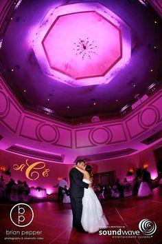 Orlando Wedding - Soundwave LED lighting at Rosen Shingle Creek, djsoundwave.net, photo by Brian Pepper & Associates   Photography & Video #soundwave #orlandoweddingdj #orlandoweddinglighting