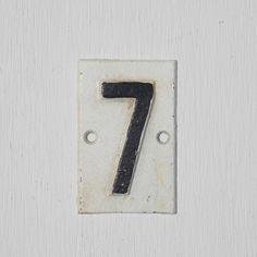 Cast Iron No. 7 sign, $7.50 shopthemansion.com