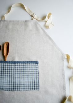 Molly's Sketchbook: Simple LinenApron - Purl Soho - Knitting Crochet Sewing Embroidery Crafts Patterns and Ideas!