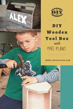 Every so often my son asks me to give him a simple project to work on. So we both agreed to make a DIY Wooden Tool Box so that he could store and organize his future tools. Currently, he doesn't have many tools, but as he grows up he'll be able to help with more complicated projects. #diy #freeplans #projects #homedecor #interior #furniture #woodproject #table #doityourself #toolbox