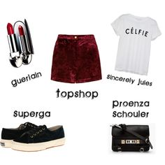 """""""Red velvet shorts"""" by maryvf on Polyvore"""