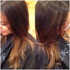 Balyage...sombre...Carmel and chocolate...long layers