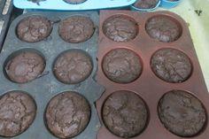Delicious Carob Muffins Recipe- Vegan, Gluten Free and Refined Sugar Free Options- Allergy Friendly Carob Chocolate, Chocolate Muffins, Gluten Free Desserts, Gluten Free Recipes, Vegan Recipes, Carob Recipes, Muffin Recipes, Free Food, Allergies