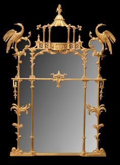 The Nostell Priory Mirror as made by Jonathan Sainsbury Ltd. (A reduction of height may be seen when compared to the original by Thomas Chippendale). Image via Decorex. The Devoted Classicist