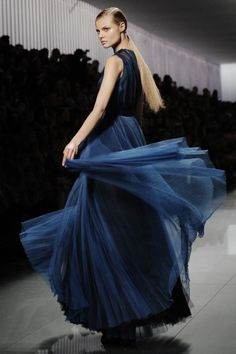 Movement on the runway at Dior's fall 2012 show. Photo by Nina Westervelt/MCV Photo