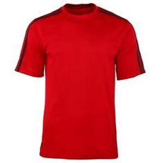 279ae0ec147cbb Adidas Golf Mens Pique T-Shirt   Sports (University Red White)