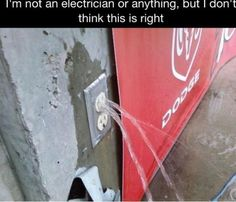 I'm not an electrician or anything, but I don't think this is right.