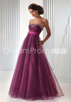 Fascinating Organza Sweetheart Neckline A-line Floor-length Prom Evening Dress
