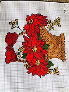 Christmas Cross, Cross Stitch Embroidery, Rooster, Towel Bars, Cross Stitch Flowers, Painting On Fabric, Crochet Stitches, Vintage Cross Stitches, Embroidery Stitches