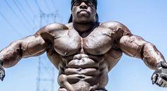 極端な筋肉の盛り上がり