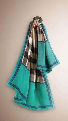 Cashmere Silk Scarf - Colour wash flowers by VIDA VIDA j50k86