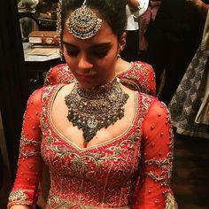A sneak peek at Tarun Tahiliani's @tarun_tahiliani latest bridal collection #thecrimsonbride