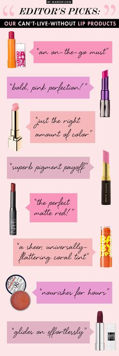 Editor's Picks: Our Can't-Live-Without Lip Products