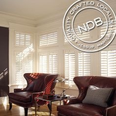 Our premium quality basswood shutters are available in four louver sizes and finished with furniture grade lacquer- and if you'd like, to your exact millwork color, at no additional charge.  http://www.nextdayblinds.com/product_su.asp