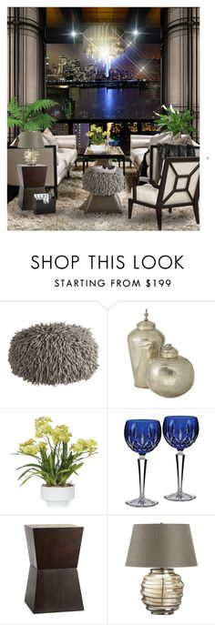 Night view ~ Living #116 by irafra on Polyvore featuring interior, interiors, interior design, home, home decor, interior decorating, West Elm, Calypso Home, Crate and Barrel and Waterford