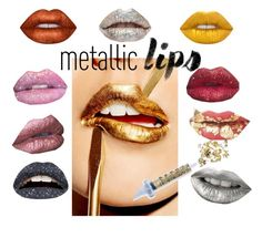 """""""Metallic lips"""" by stylemyride ❤ liked on Polyvore featuring beauty, Lime Crime, Glitter Injections, Glitter Pink, Violent Lips, contest and metalliclips"""