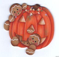 Gingers pumpkin magnet