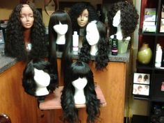 Custom hairpieces by Keynoa. All units made with 100% virgin human LumiBloom hair. Aqua curl Brazilian and Indian,  Terra Wave Indian and Malaysian, and Aer Soft Wave. Order your hair today, www.myrelaycollective.com/ShakiraKPoitier
