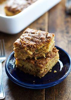 Cinnamon sugar courgette cake