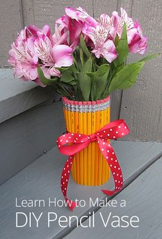 How to Make a DIY Pencil Vase