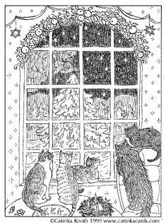 printable dover coloring pages | Christmas Coloring Pages, Cards and Poems, and Angels by Catinka Knoth