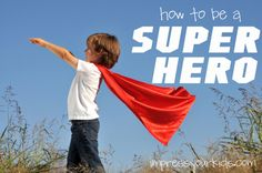 Super Hero activities and crafts for kids--based on 1 Timothy 4:12!