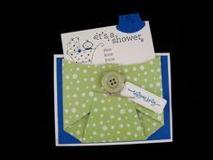 Baby Shower Invitation Diaper Card - Set of 10. $39.95, via Etsy.