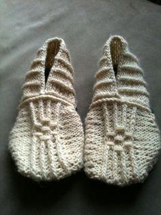 DIY Knitting Pattern - Japanese House Slippers