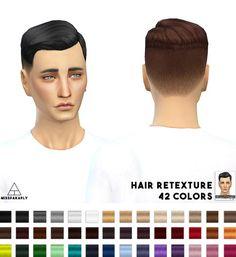 Miss Paraply: Hair retexture EA Short Crew Cut Side Part • Sims 4 Downloads